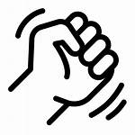 Fist Icon Vector Icons Getdrawings Clenched Library