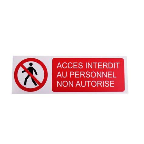 plaque autocollante cuisine pictogramme accès interdit au personnel non autorisé