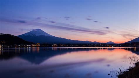 japan lake kawaguchi mount fuji evening preview