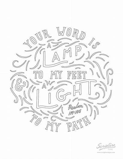 Psalm 119 105 Coloring Scripture