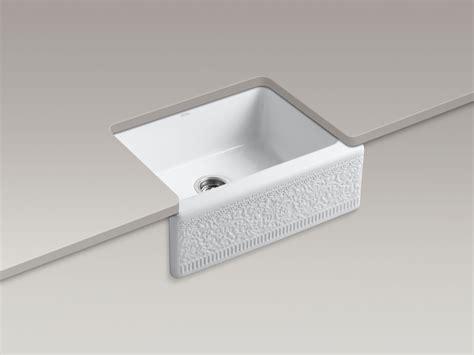 undermount kitchen sink with faucet holes standard plumbing supply product kohler k 14572 fc 0 alcott undermount farmhouse kitchen sink