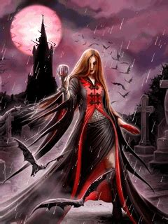blood moon  anne stokes mobile screensavers  vampire scary moon blood annestokes mobile