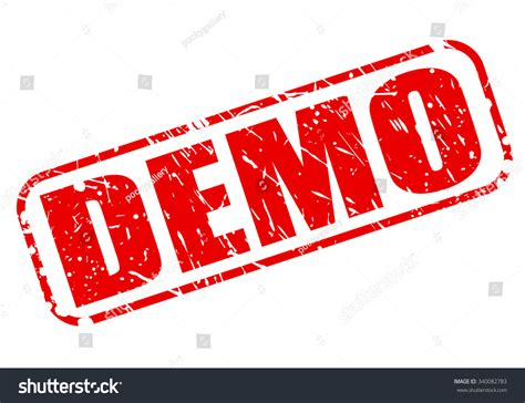 Demo Red Stamp Text On White Stock Vector 340082783