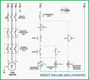 Unique Wiring Diagram For Single Phase Dol Starter  Diagram  Diagramsample  Diagramformat In