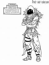 Fortnite Coloring Pages Raven Games Royale Battle Boys sketch template