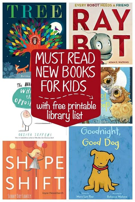 6 must read new preschool books plus a free printable