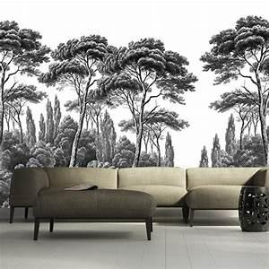 Papier Peint Ananbo : papier peint pins et cypres 3 ananb ~ Melissatoandfro.com Idées de Décoration