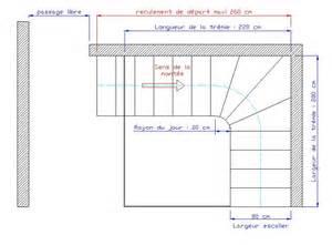 Dimension Escalier Droit Beton by Dimensions D Un Escalier
