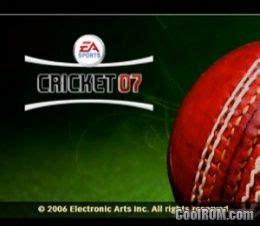 cricket  europe rom iso   sony playstation  ps coolromcom