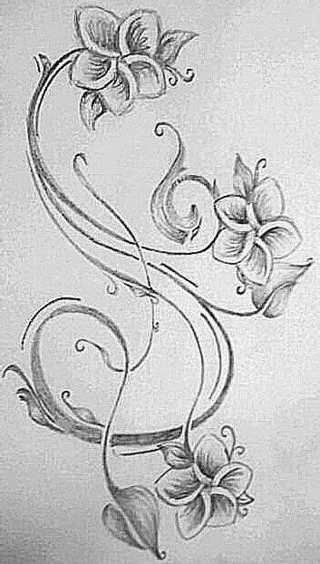 Hawaiian flower with filigree swirls