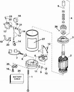 Johnson Electric Starter  U0026 Solenoid Parts For 2001 30hp