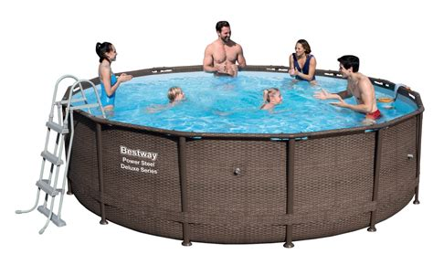 Pool Set by Bestway Power Steel Deluxe Pool Set 427x107 Rattan 56664