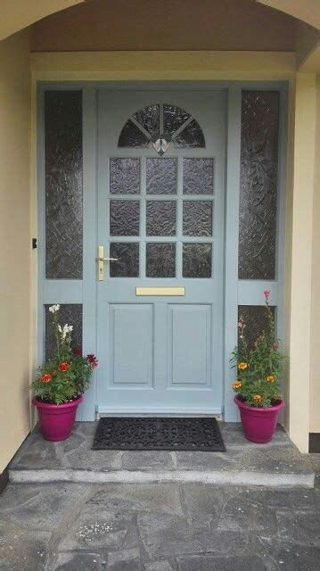 colour   painted  front doorsweet bluebird