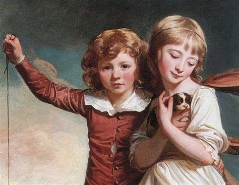 George Romney. The Clavering Children. Detail