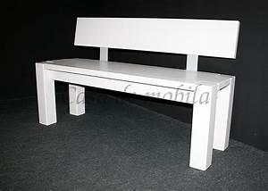 Sitzbank 140 Cm : sitzbank 140x86x47cm mit r ckenlehne kiefer massiv wei ~ Watch28wear.com Haus und Dekorationen