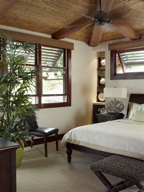Tropical Bedroom Pictures by Tropical Bedroom Window Treatments Design Pictures