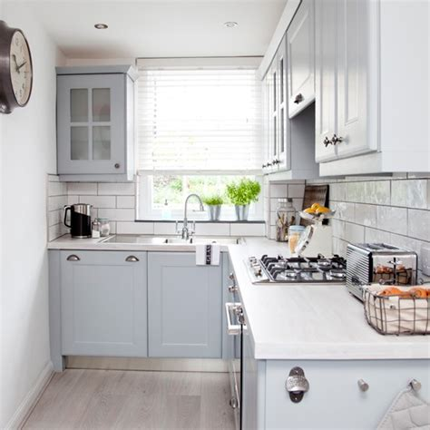 kitchen glazed cabinets stylish kitchen with re painted units in blue grey 1772