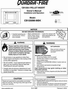 Quadra Fire Pellet Insert Cb1200i Users Manual