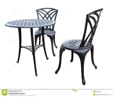patio chairs and table stock photography image 4004412