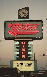 metro diner neon sign Vintage signs Pinterest