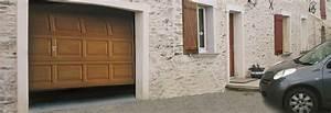 Porte de garage sectionnelle a cassette sur mesure for Porte de garage de plus porte en bois sur mesure