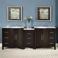 silkroad exclusive mesa 48 inch double sink bathroom