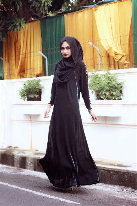 impressive collection of abaya with flare designs 14