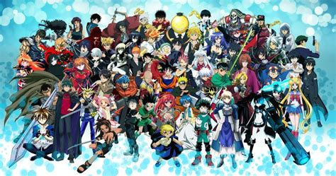 anime wallpaper assorted anime characters poster son goku