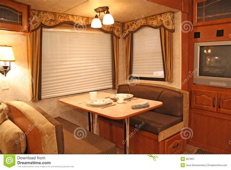 retired home interior pictures inside rv dining stock image image 957851