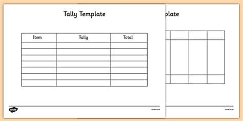 Tally Template  Tally, Template, Tally Chart, Graph, Maths