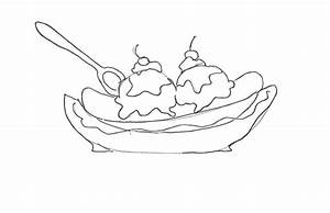 How to Draw Banana Split Coloring Pages: How to Draw ...