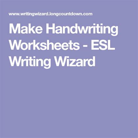 handwriting worksheets esl writing wizard