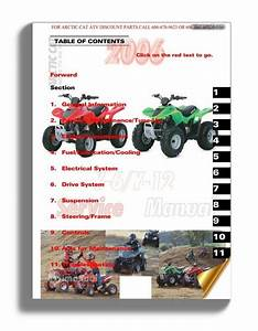 Arctic Cat 2006 Y6 Y12 50cc 90cc Service Manual