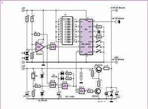 Wireless Alarm Transmitter And Receiver Schematic Circuit