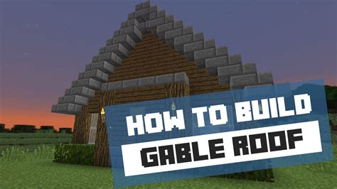 how to build a gable roof how to build a gable roof minecraft tutorial