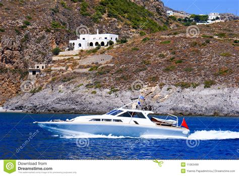 Fast Wake Boats by Fast Motor Boat With Splash And Wake Royalty Free Stock