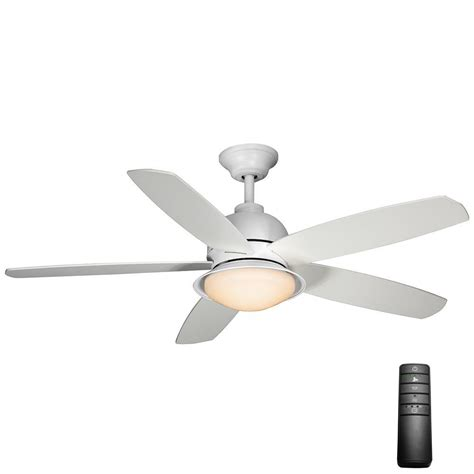 White Ceiling Fans With Lights by Hton Bay Lyndhurst 52 In Indoor Matte White Ceiling