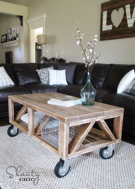 how to build a coffee table coffee table diy shanty 2 chic