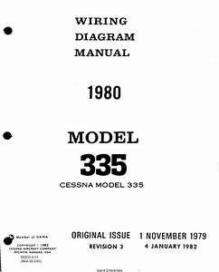 Cessna Model 335 Wiring Diagram Manual 1980 D2523
