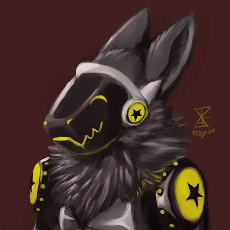 A pic of a protogen character done for someone at a facebook art group. Star Protogen Headshot — Weasyl