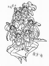 Sailor Moon Coloring Pages Sailormoon Sheets Printable Books Adult Colouring Jupiter Sailors Picgifs Mario Anime Scouts Wild Super Song Theme sketch template