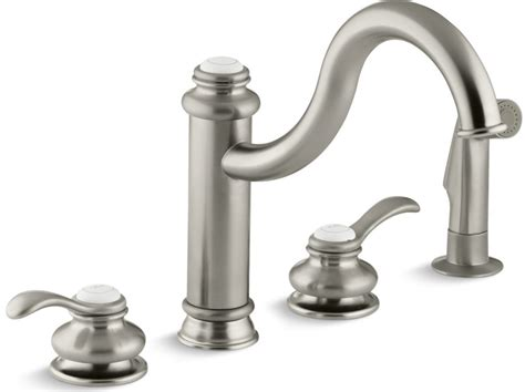 Kohler Fairfax Kitchen Faucet Brushed Nickel by Kohler Fairfax 174 Handle With Sidespray With Ceramic