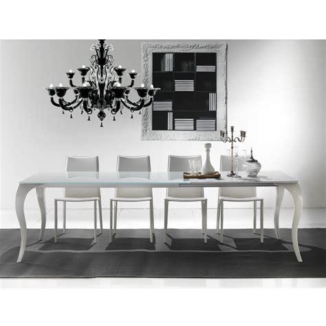 tavolo rotondo allungabile cristallo tavoli bianchi moderni allungabili tavolo cristallo