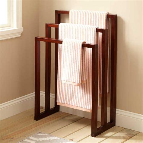 hailey mahogany towel rack