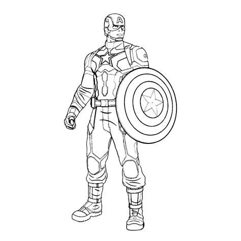 Kaptain Amerika Kleurplaat captain america civil war kleurplaten