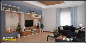 Brilliant living room interior design in kerala to for Kerala home living room designs