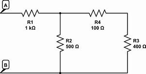 resistance replacing resistors with equivalent resistor With what is the equivalent resistance of the five resistors in the circuit