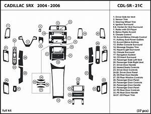 Dash Trim Kit For Cadillac Srx 04