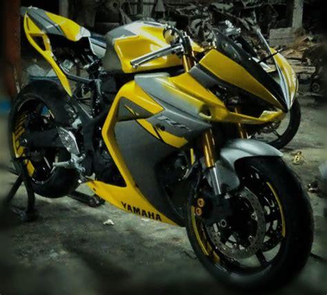 Foto Moditifikasi Motor R25 Yang Keren by 50 Foto Motor Modifikasi Yamaha R25 Terbaru Lebih Sporty