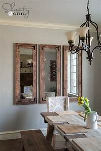 Diy rustic wall mirrors made from cheap plastic framed